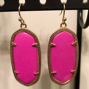Kendra Scott Elle Earrings in Magenta